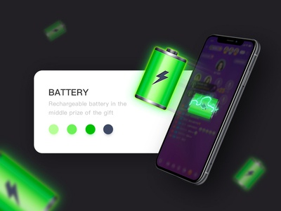 battery game icon app color design illustration ui