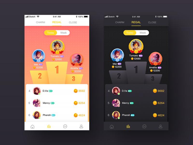 Leaderboard page game font icon app color design illustration ui