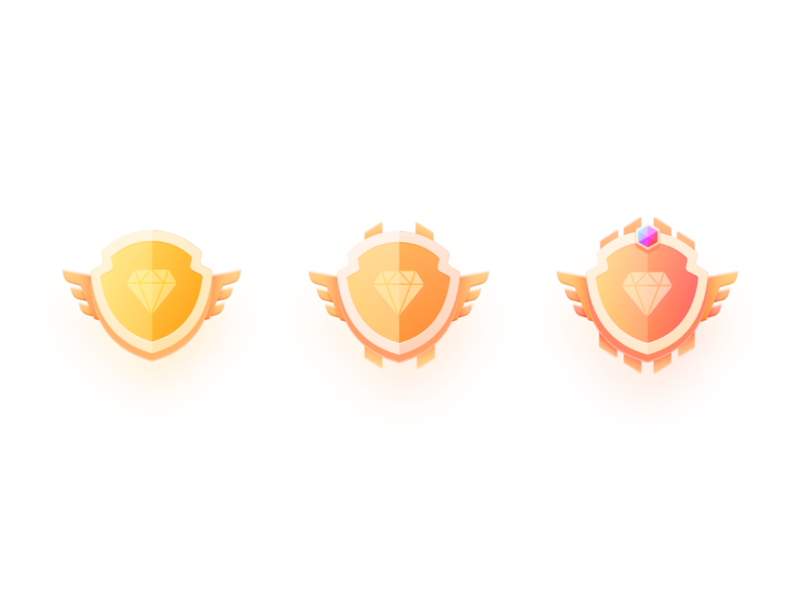 Badge logo icon app color design illustration ui
