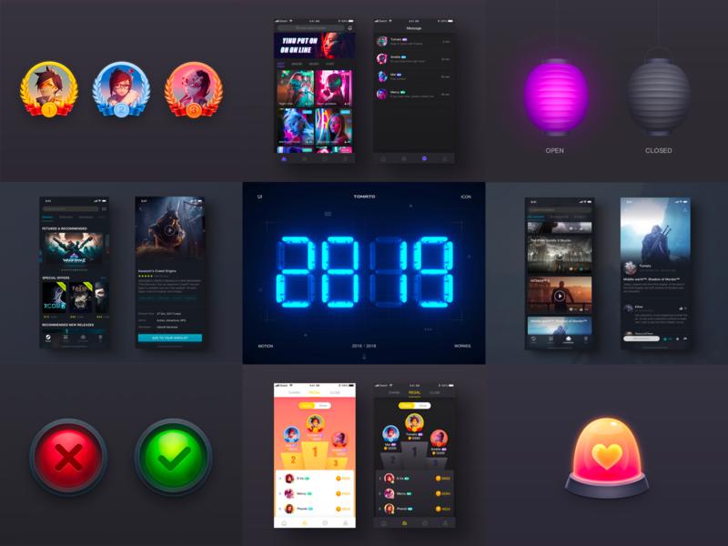 2019 Best Nine ux page app logo game 3d icon design illustration ui