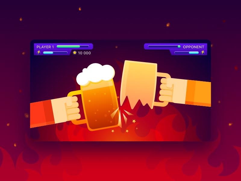 Beer Game Concept debut game beer illustration design game design ux ui