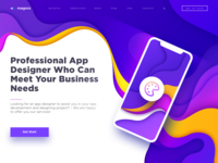 Professional App Designer Concept Landing