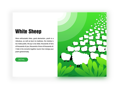 White Sheep illustrations expression design ui