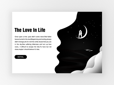 The Love In Life illustrations expression design ui