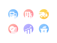 Corporate data background ICON