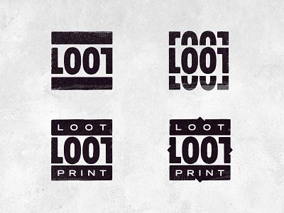 Lootprint print branding scribble texture grunge logodesign logotype concept logo
