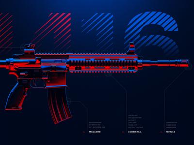 M416 - Battleground Weapons Collection - PUBG