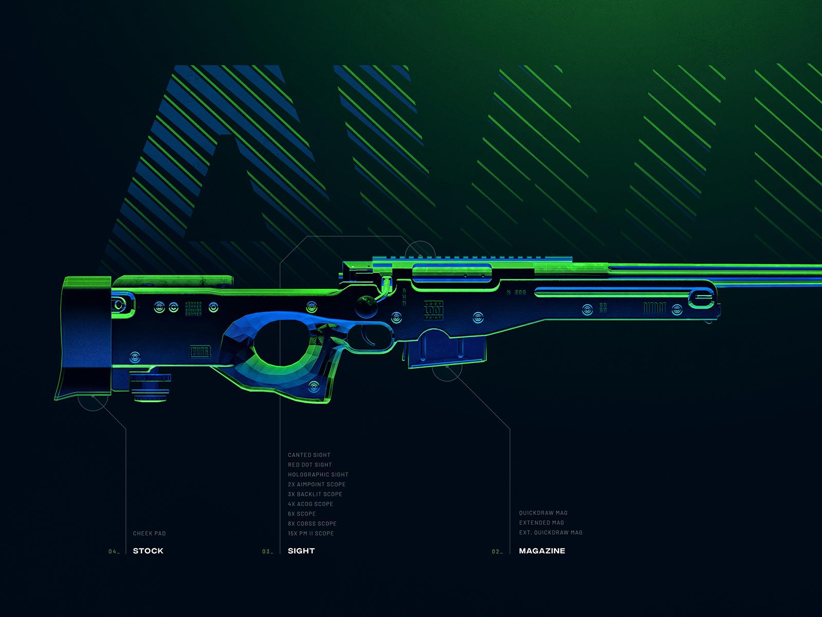 Awm Battleground Weapons Collection Pubg By Konstantin Meier