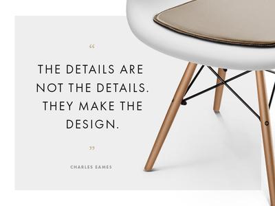 The Details design dailyui chair pad daw chair charles eames eames quote