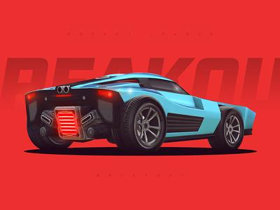 Rocket League - Breakout racing red wallpaper gaming game roadster car breakout rocket league