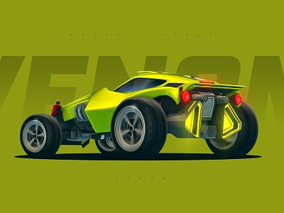 Rocket League - Venom rocket league venom car roadster racing game gaming wallpaper lime green