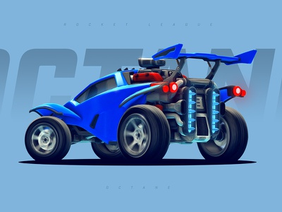 Rocket League - Octane rocket league octane car roadster racing game gaming wallpaper blue