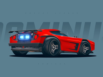 Rocket League - Dominus rocket league dominus car roadster racing game gaming wallpaper red