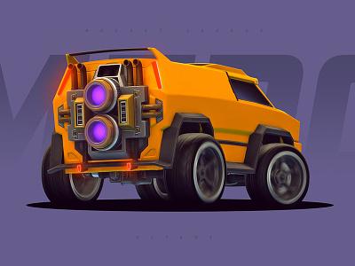 Rocket League - Merc purple orange wallpaper boost gaming game racing van car merc rocket league