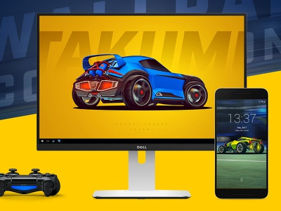 Rocket League Cars Wallpaper Collection freebie yellow cars racing game controller devices mobile desktop wallpaper rocket league