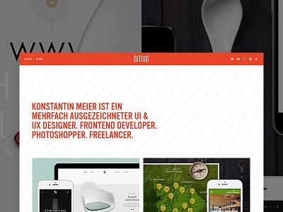 nitnat.de Relaunch freelancer orange minimal behance projects frontend ux ui work profile portfolio