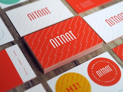 Business Cards orange moo pattern logo sticker cards print business cards