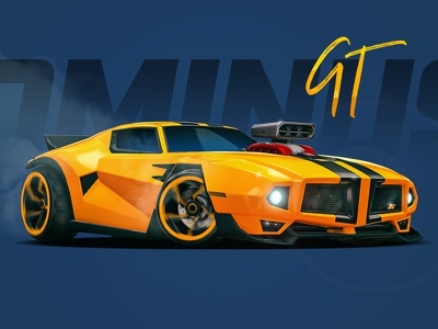 Dominus GT - Rocket League rocket league dominus wheels speed car racing game gaming wallpaper yellow blue