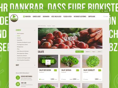 Organic Food E-Commerce ui healthy organic store natural green food farming vegetables ecommerce shop bio