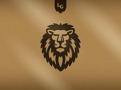 Wine Glass bronze regal lion glass wine store liquor branding logo