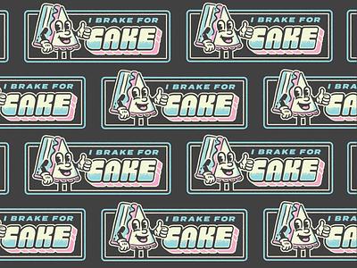 Cake Boy Branding boy illustration dimensional bumper sticker bake sweet badge typography sprinkles character cake