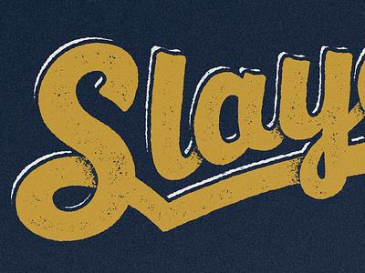 Slayers softball kickball sheep illustration typography script texture
