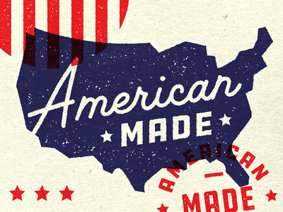 American Made ddc type america usa texture badge stamp