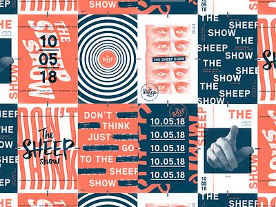 Sheep Show 2018 texture typography type brainwash propaganda posters sheep