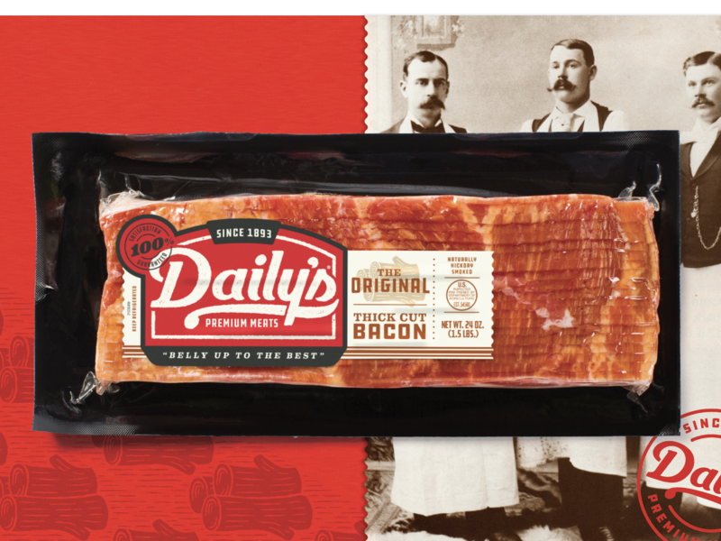 Daily's Bacon Packaging