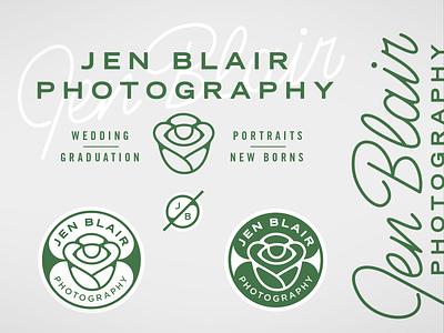 Jen Blair Photography Branding eye logo branding badge script flower photographer