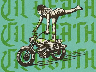 Til Death type design texture death motorcycle