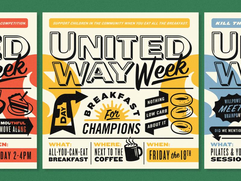 United Way Week Posters
