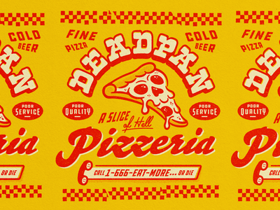 Pizza Skull texture dead pattern pepperoni pizza skull branding typography illustration logo