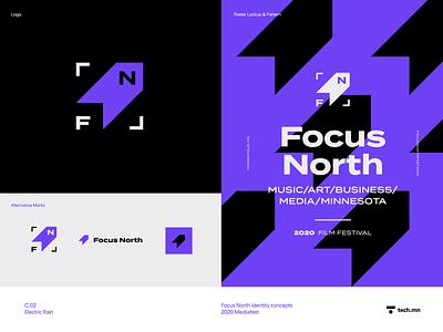Focus North branding reject rejected concept logo