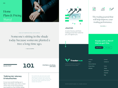 Tradervue branding concept style-tiles concept ux ui style-tiles layout