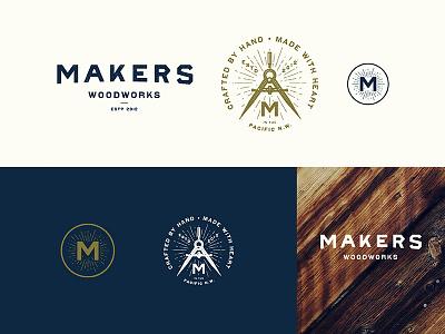Makers Woodworks new branding makers wood logo branding
