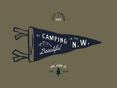 Go Camping NW Pendant type camping font