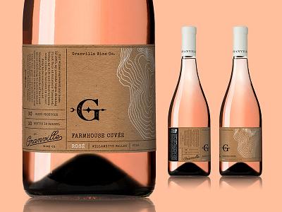 Granville Farmhouse Rose Label label wine