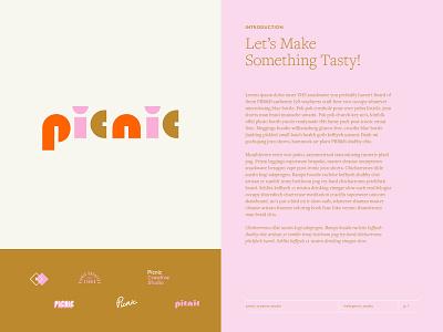 Picnic Geometric Layout Experiment layout branding logo