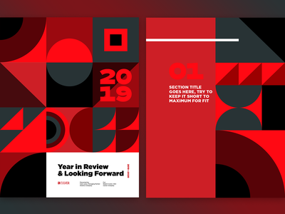 Annual report concepts layout annual report geometric illustration