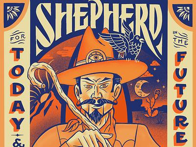 Shepherd Zoltar illustration character design cowboy procreate handlettering illustration