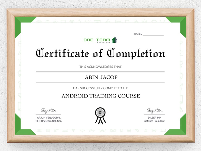 Project Completion Certificate By Sajeer Dribbble Dribbble