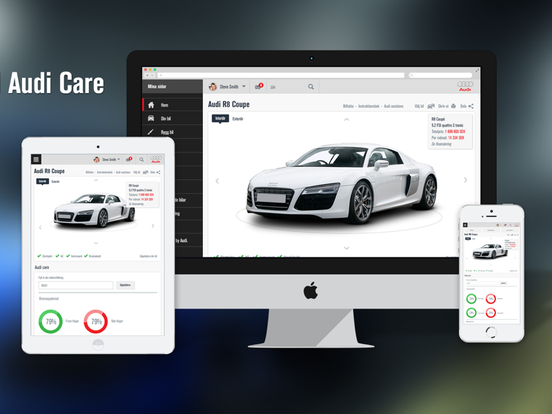 Audi Personal Care - Throwback design personal pages clean responsive care cars audi