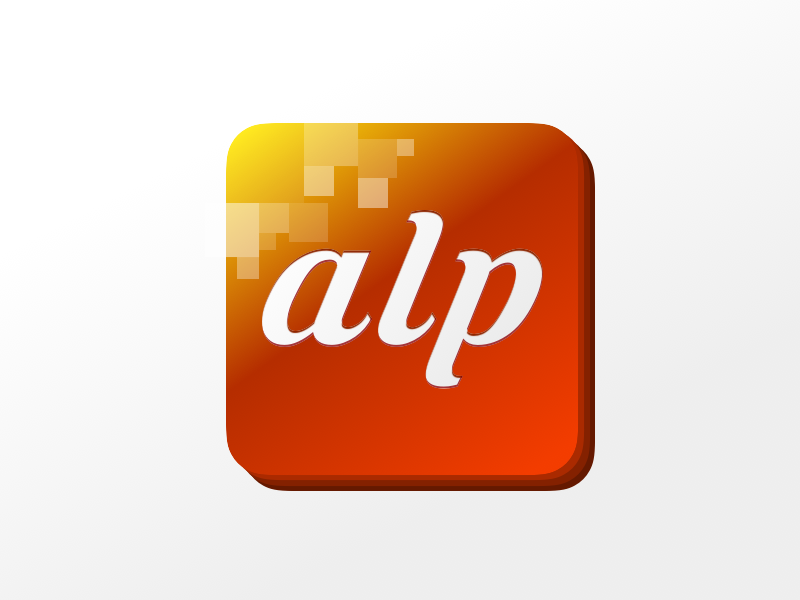 ALP Logo - DailyUI013 gradient sport app yellow orange logo