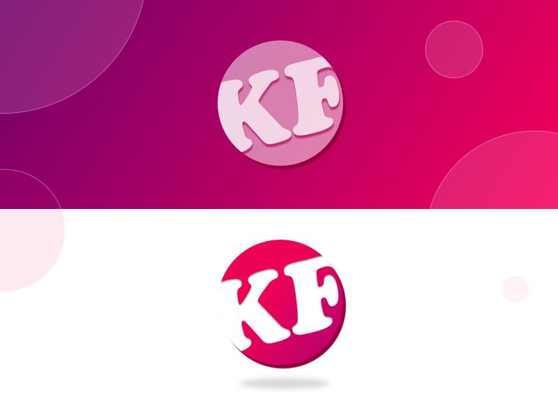 Logo Concept of KM - DailyUI015 dating app web gradient pink logo