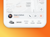 Driver UI for ride hailing APP