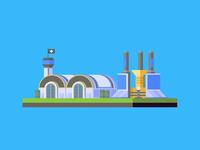 Allied Power Plant & Barracks