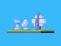 Allied Radar Tower & Battle Lab