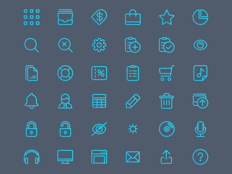 Allexis Iconset ui outline icon set icon