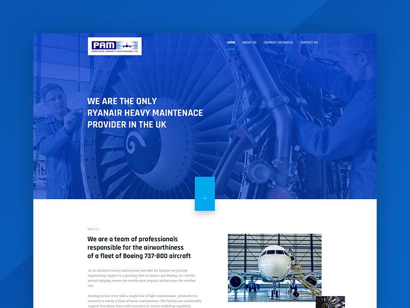 Heavy maintenance provider webdesign ux ui